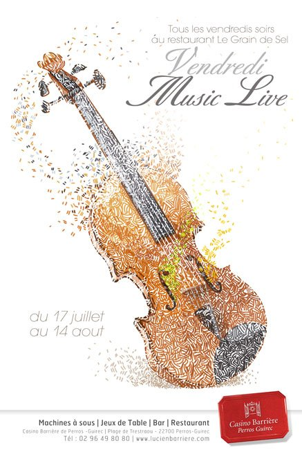 Affiche Music live by Djoz