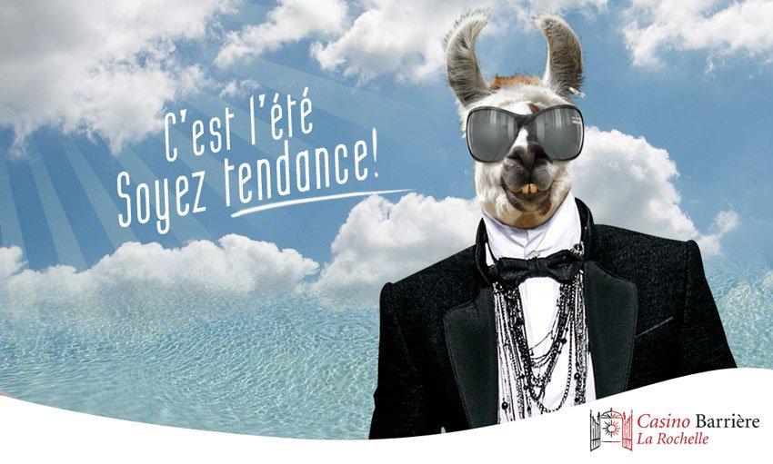 carte postale pour un casino recto by djoz