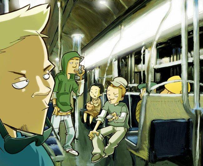 lascars dans le métro by greg et djoz