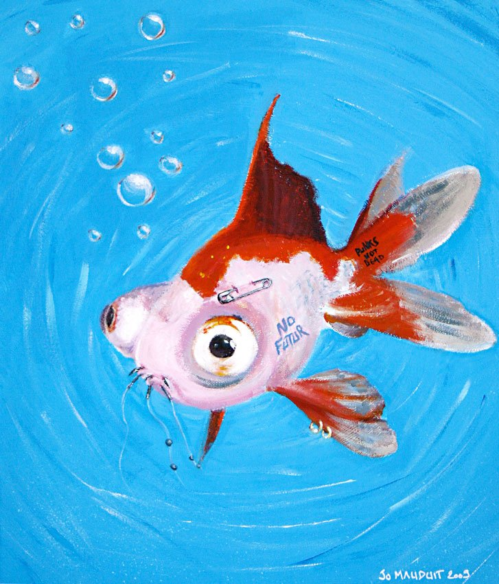 Punk is dead, poisson punk de la série evolution by djoz