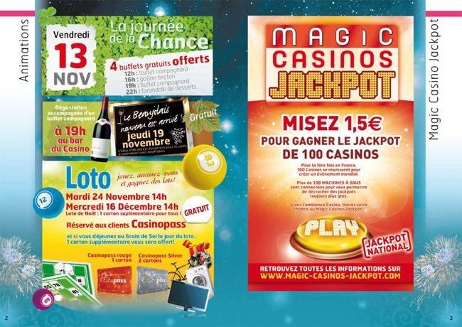 programme pour un casino pour noel