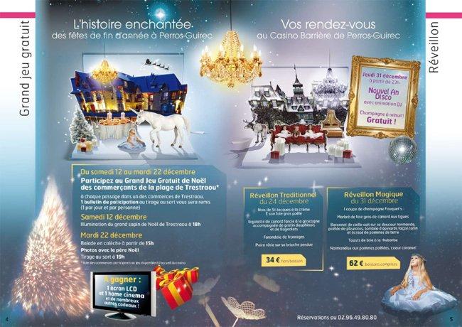 menus et carte du programme decembre