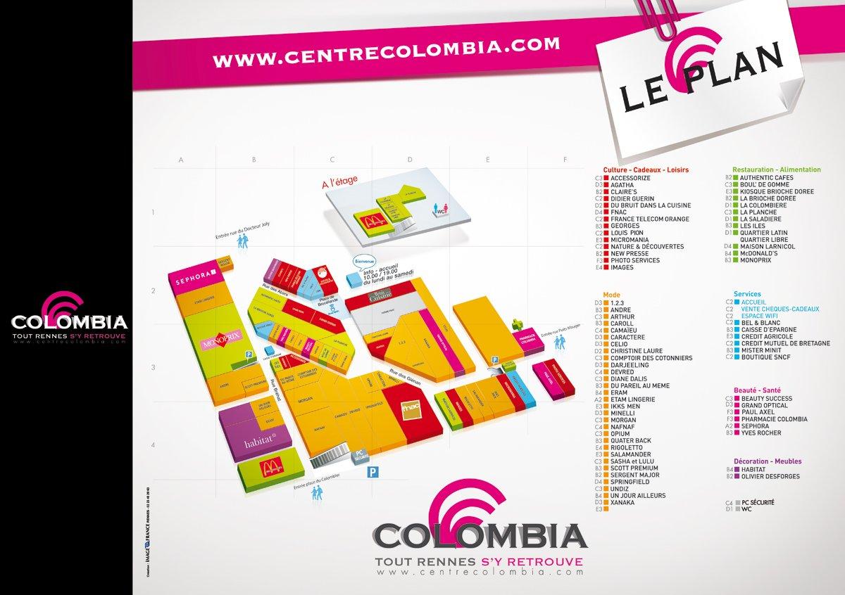 plan des differentes boutiques d'un centre commercial by djoz