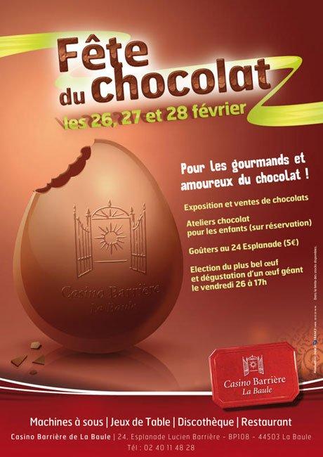 affiche sur la fete du chocolat pour un casino par djoz