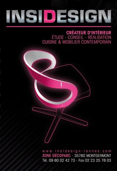 affiche pour un magasin de design d'interieur