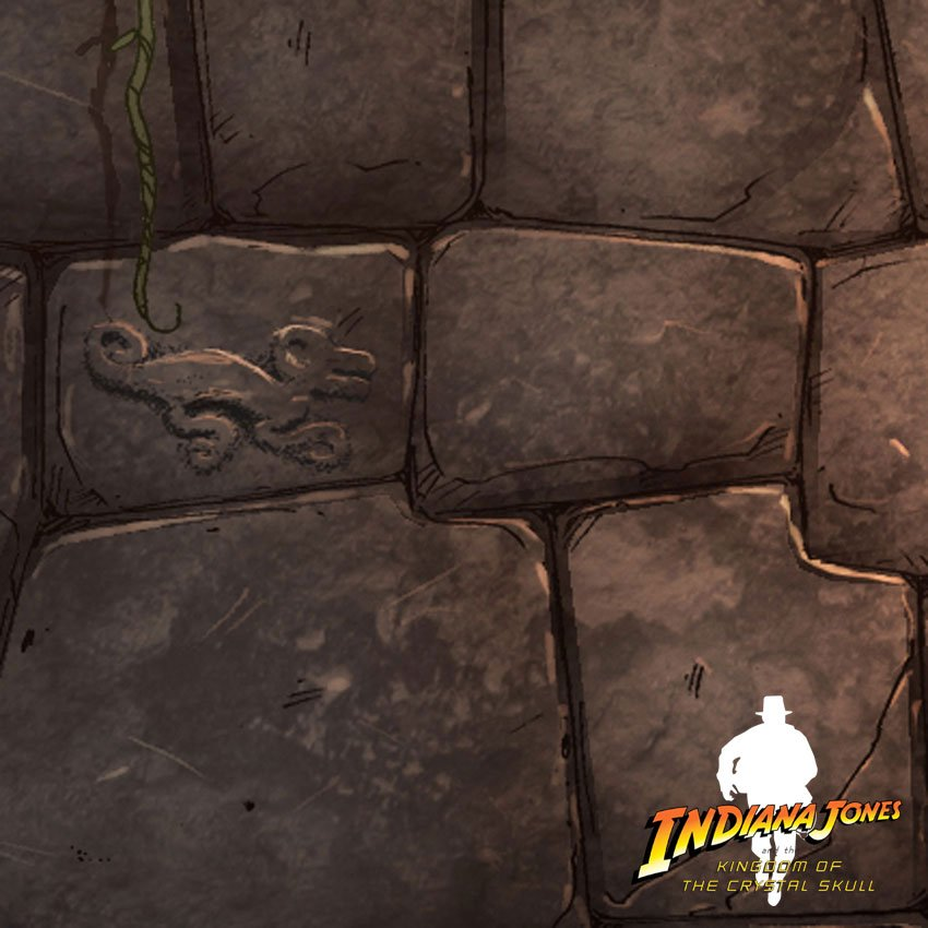 détail de l'illustration d'indiana jones